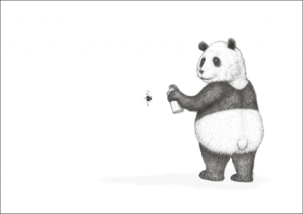Panda med RAMME